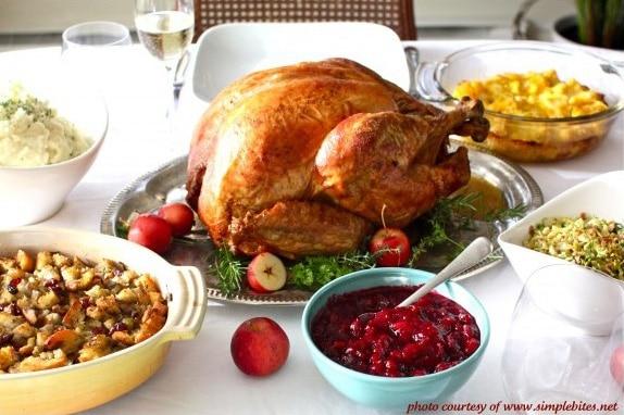 Dinner typique dinde Thanksgiving