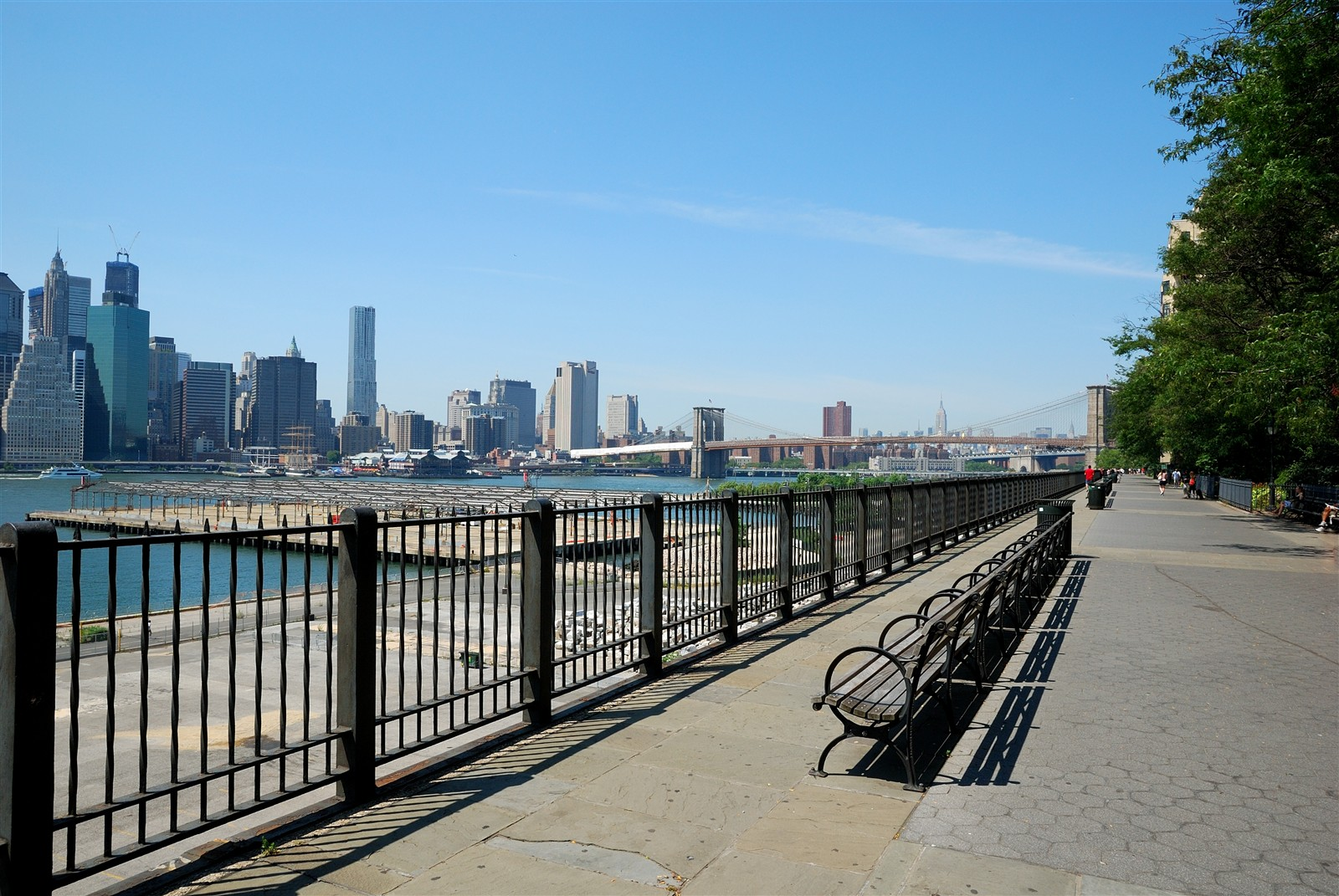 Vue de la promenade de Brooklyn Bridge Park