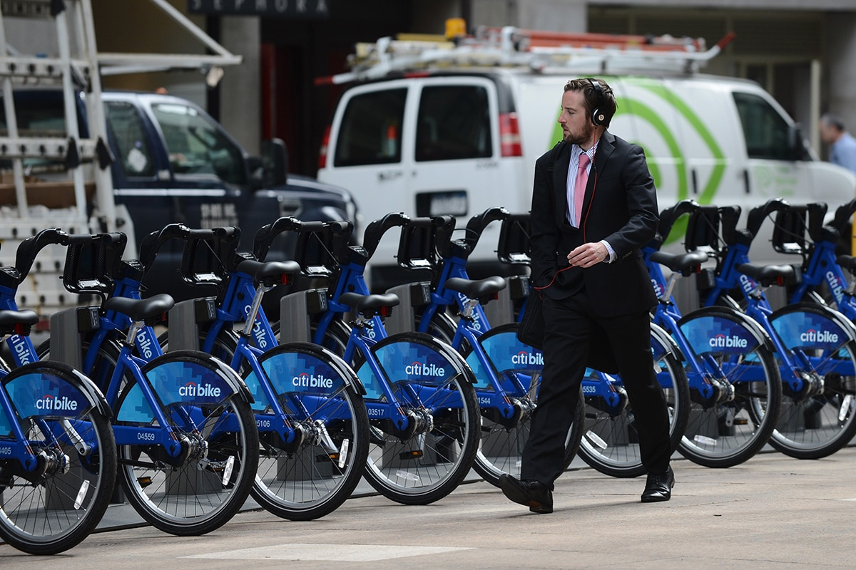 Vélos Citi Bike en libre service à New York