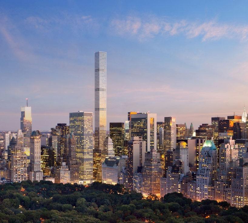 Projet 432 park avenue depuis central park west