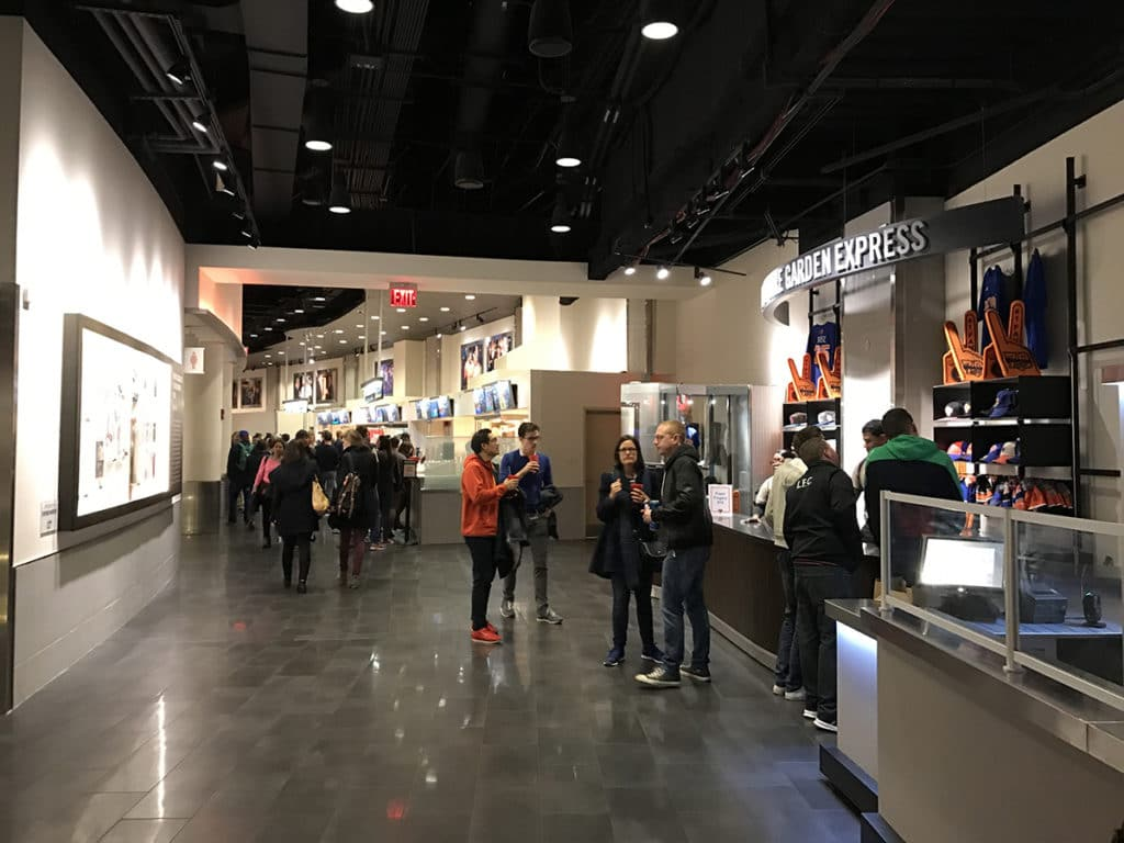 Boutiques fans New York Knicks au Madison Square Garden