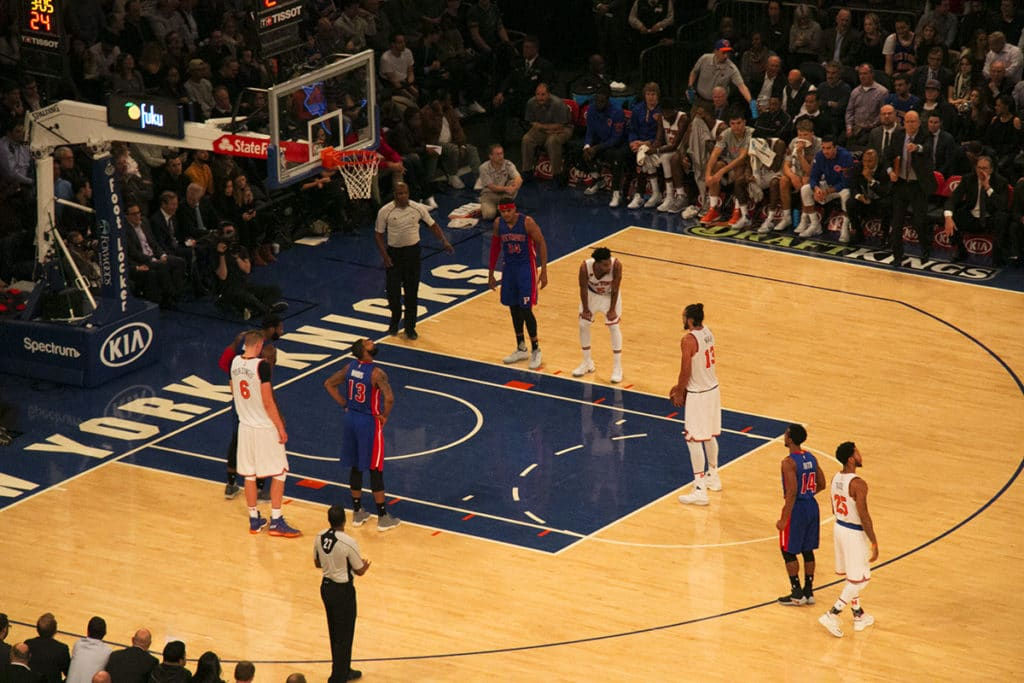Match de basket des Knicks à New York
