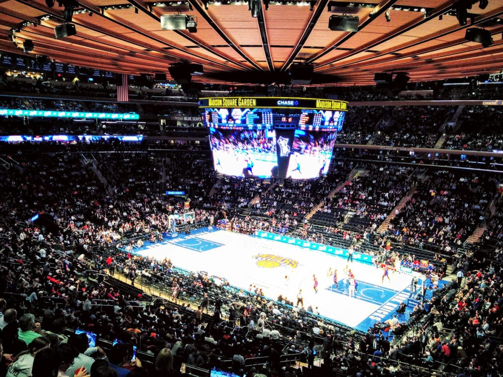 Intérieur Madison Square Garden match de NBA des New York Knicks