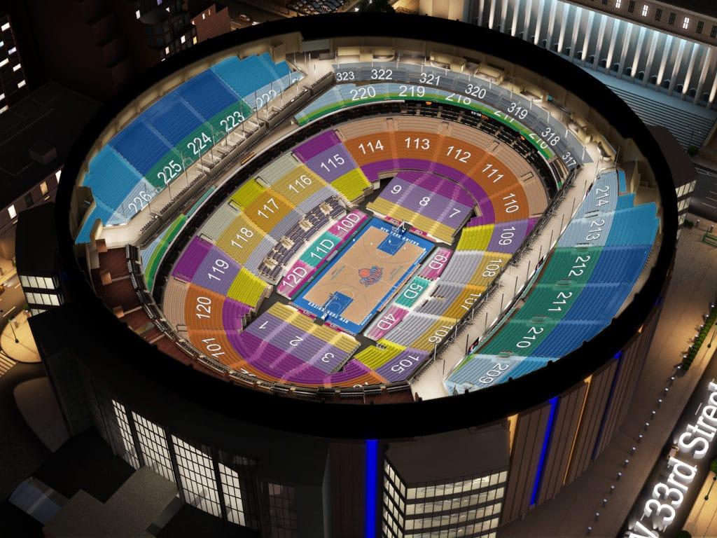 Plan des sièges au Madison Square Garden