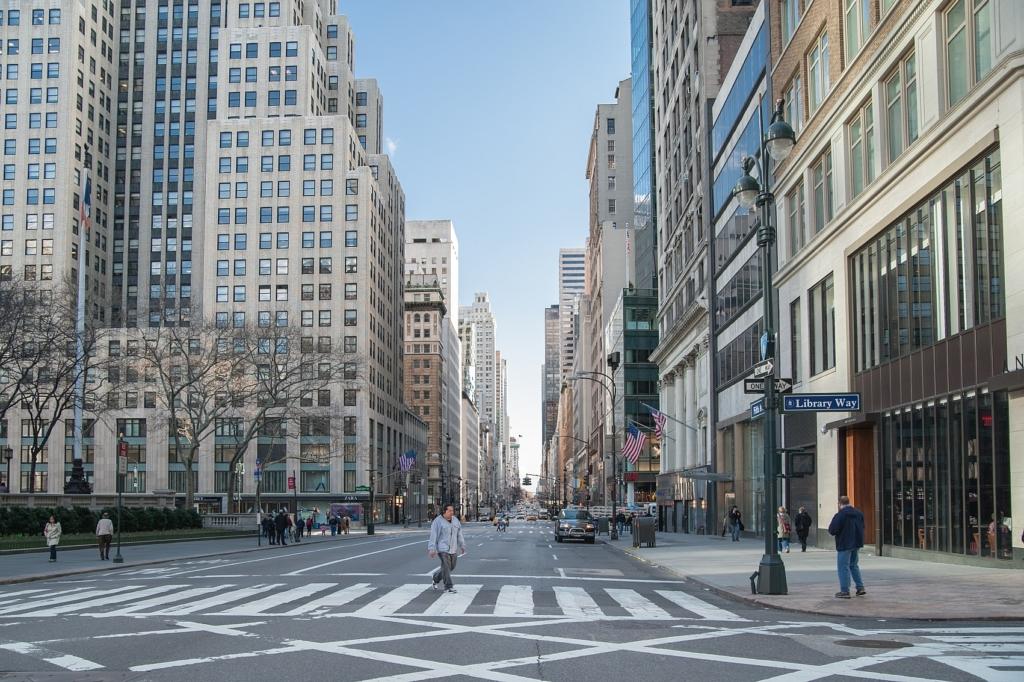 Vue sur la 5ème avenue à New York