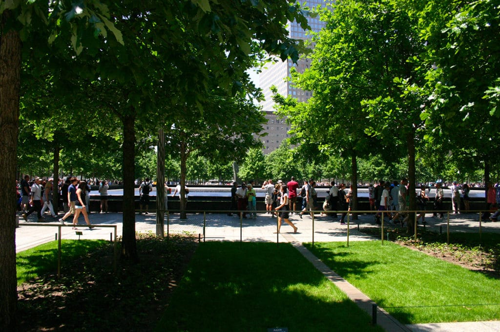 Parc autour du mémorial du 11 septembre à New York