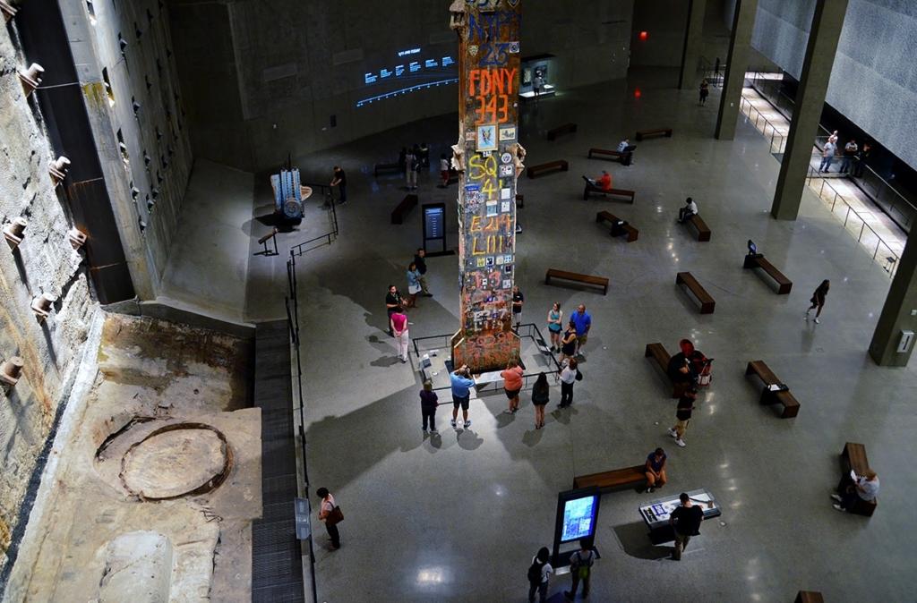 Pilier du World Trade Center au Musée du 11 Septembre