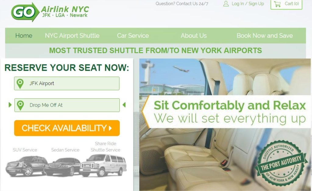Réserver une navette pour un transfert JFK Manhattan - Choix lieu dépot