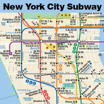 Central Park New York Map Pdf.Plans De New York A Telecharger Et Imprimer Metro Bus Et Ferry Pdf