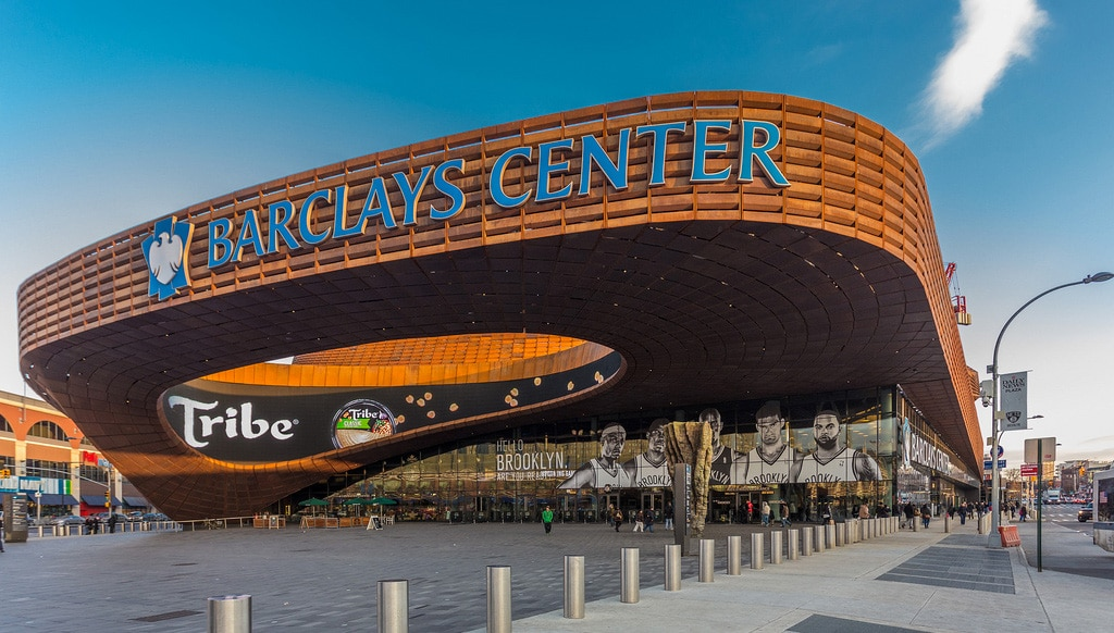 Extérieur du Barclays Center à Brooklyn