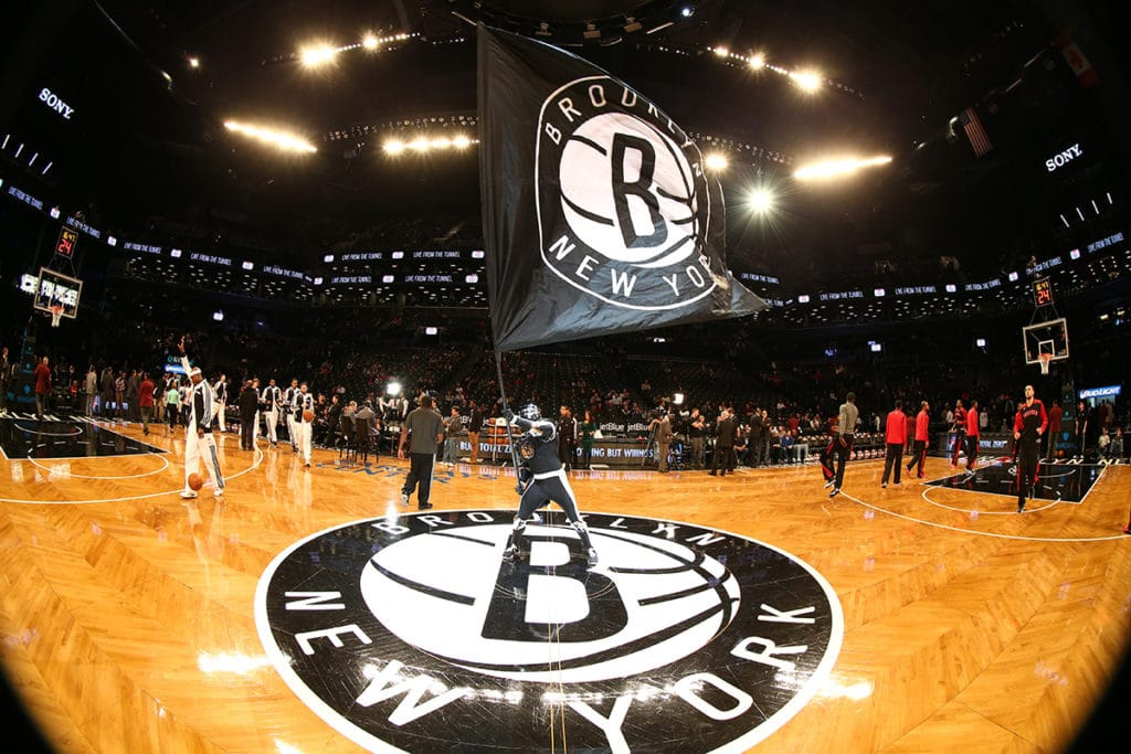 Terrain des Brooklyn Nets, match de NBA