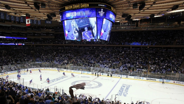 Match de NHL au Madison Square Garden