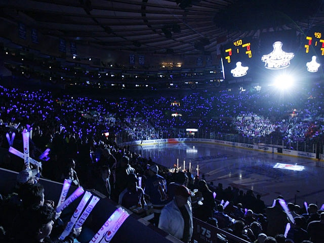 Ambiance NHL au Madison Square Garden