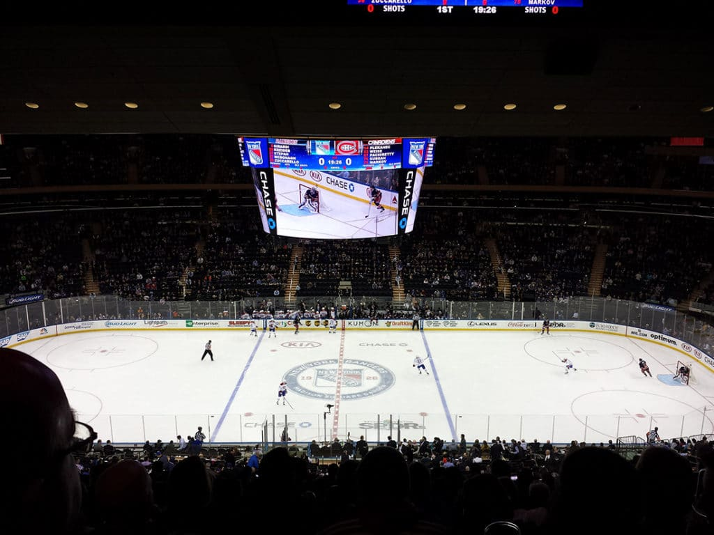 Match de hockey au Madison Square Garden