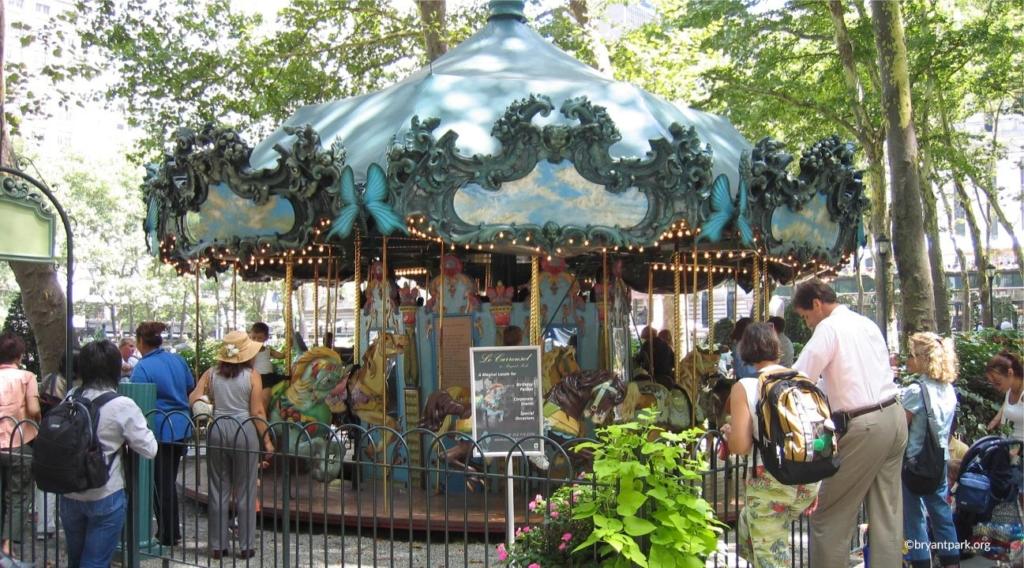 Carousel à Bryant Park à New York
