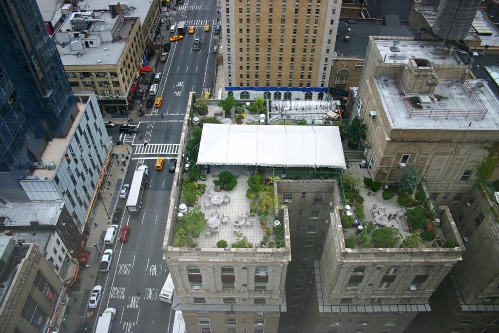 Vue depuis l'hôtel The Westin à New York