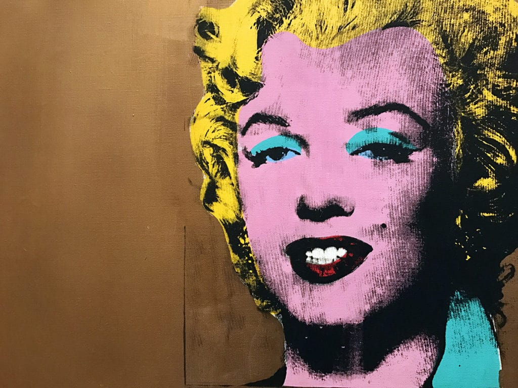 Marilyn Monroe de Andy Warhol visible au MoMA, The Museum of Modern Art à New York
