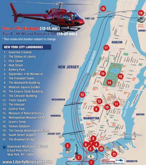 Vol en hélicoptère : trajet du New York, New York VIP tour