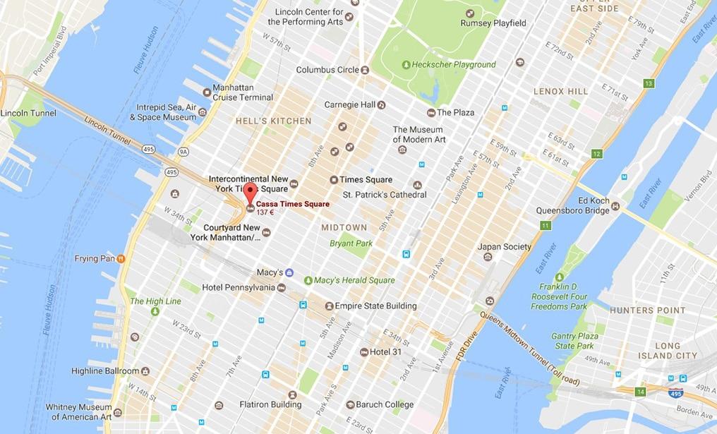 cassa hotel times square new york petit d jeuner et jacuzzi en rooftop blog voyage new york. Black Bedroom Furniture Sets. Home Design Ideas