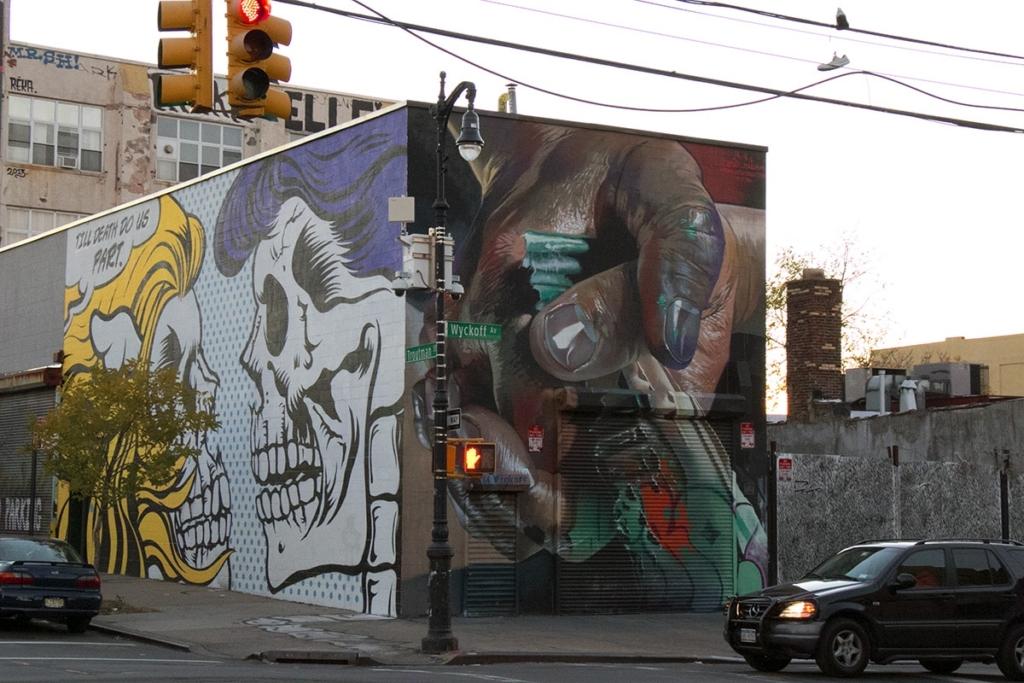 Street art à Bushwick à New York