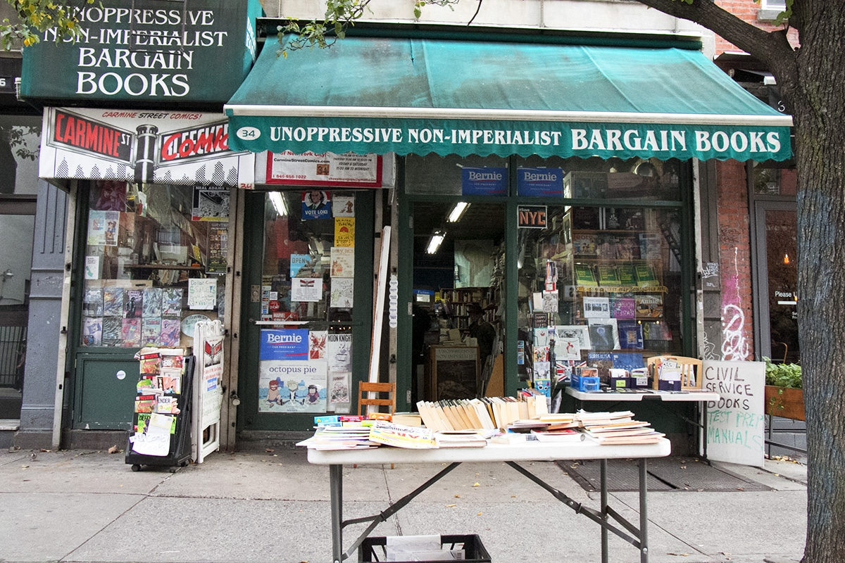 Librairie indépendante dans le Greenwich Village à New York