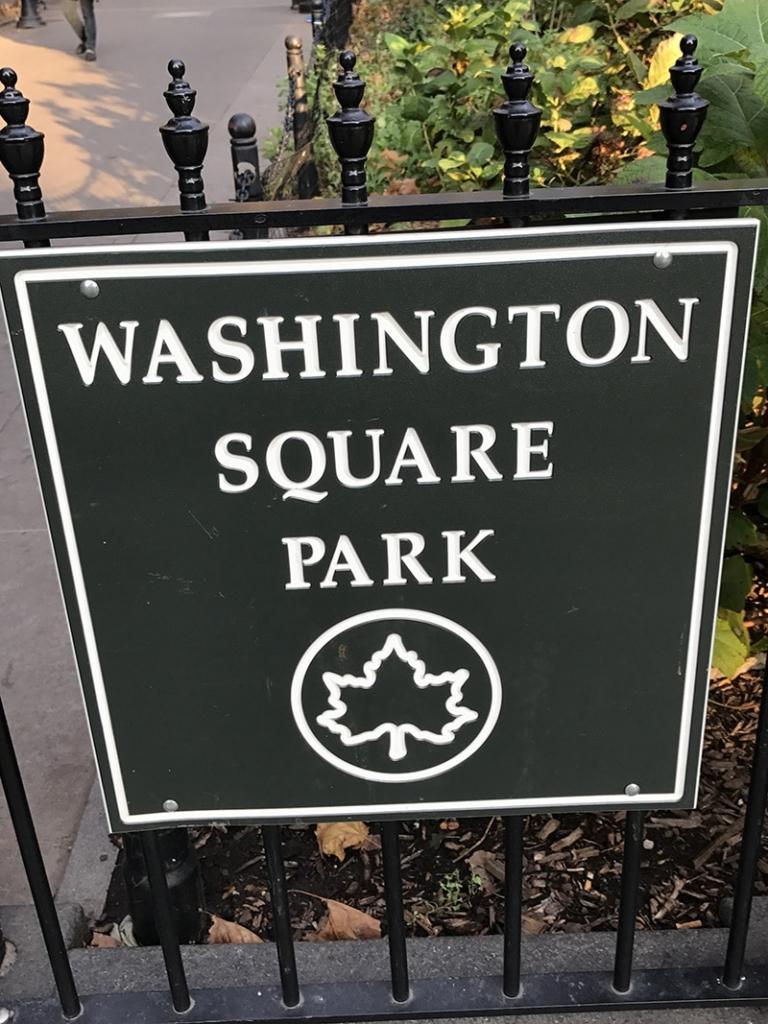 Pancarte d'entrée du Washington Square Park