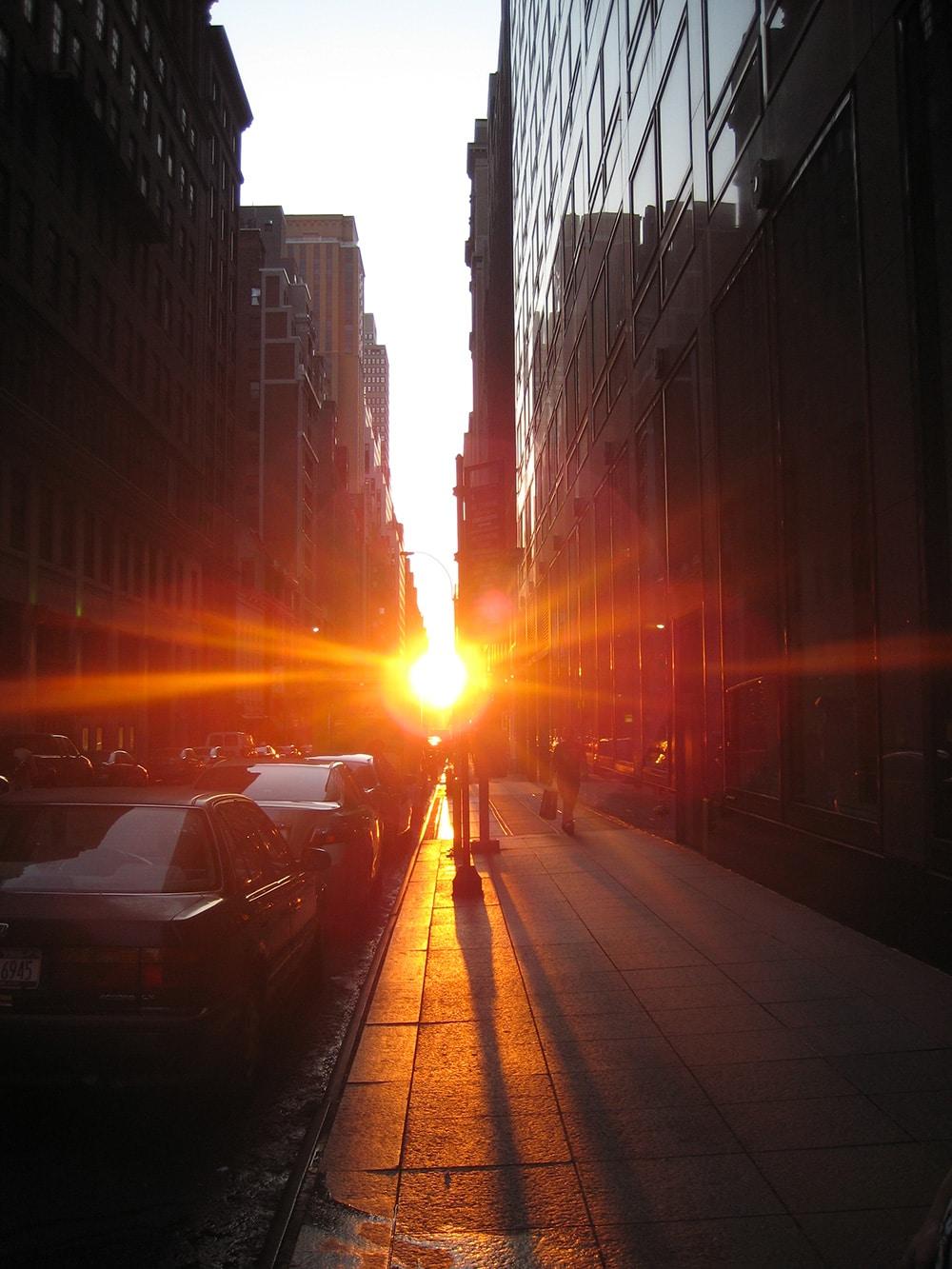 Manhattanhenge vue de la 42st