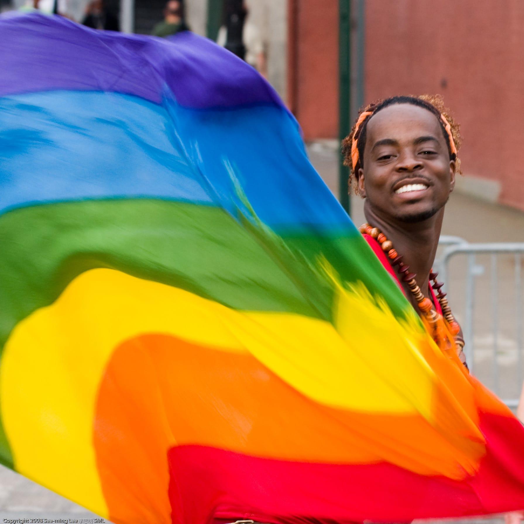 Drapeau de la Gay Pride à New York