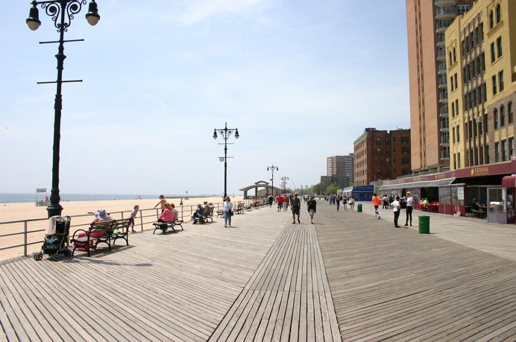 Brighton Beach à Coney Island à New York