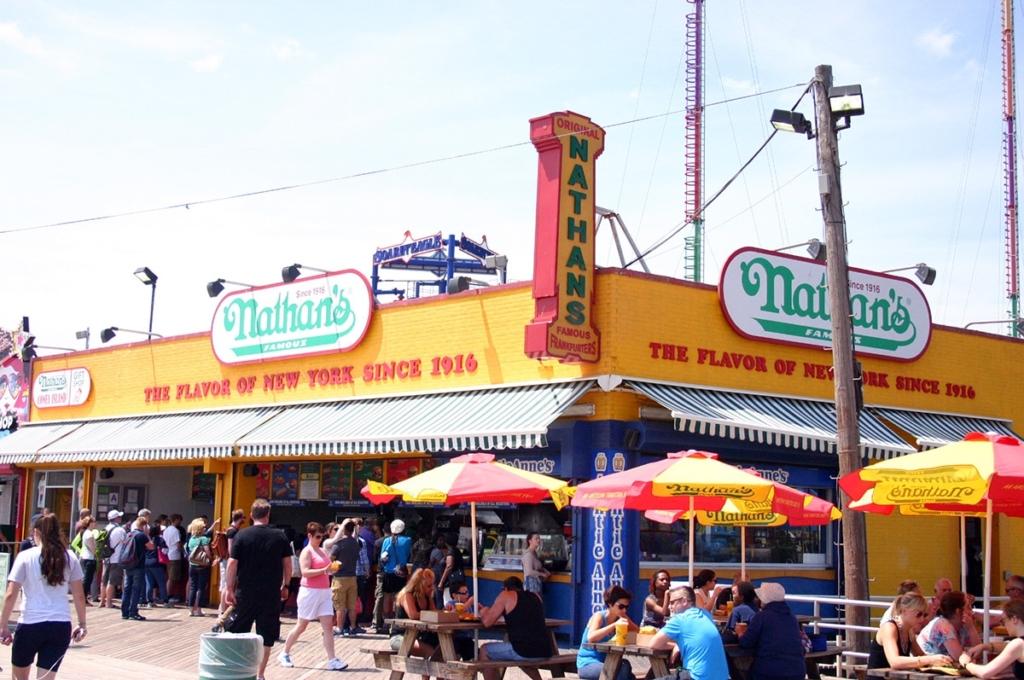 Nathan's hot dog à Coney Island à New York