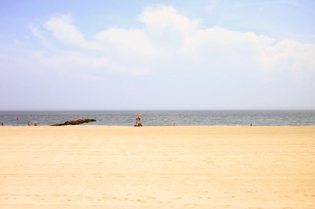 Plage à Coney Island à New York