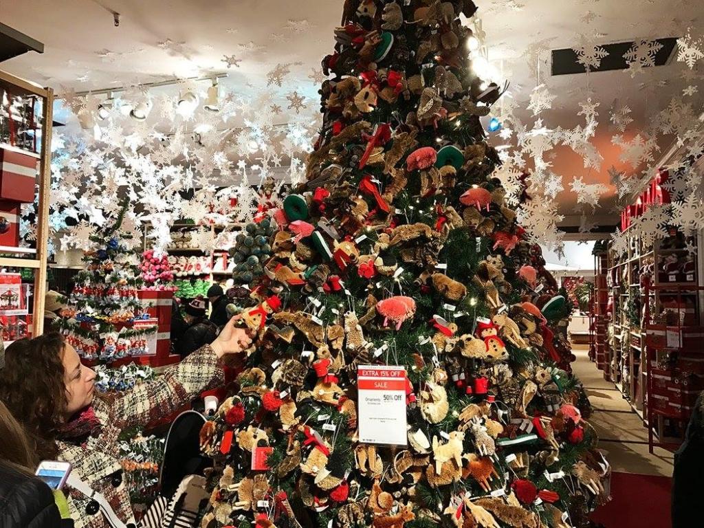 shopping decoration noel macys voyage new york
