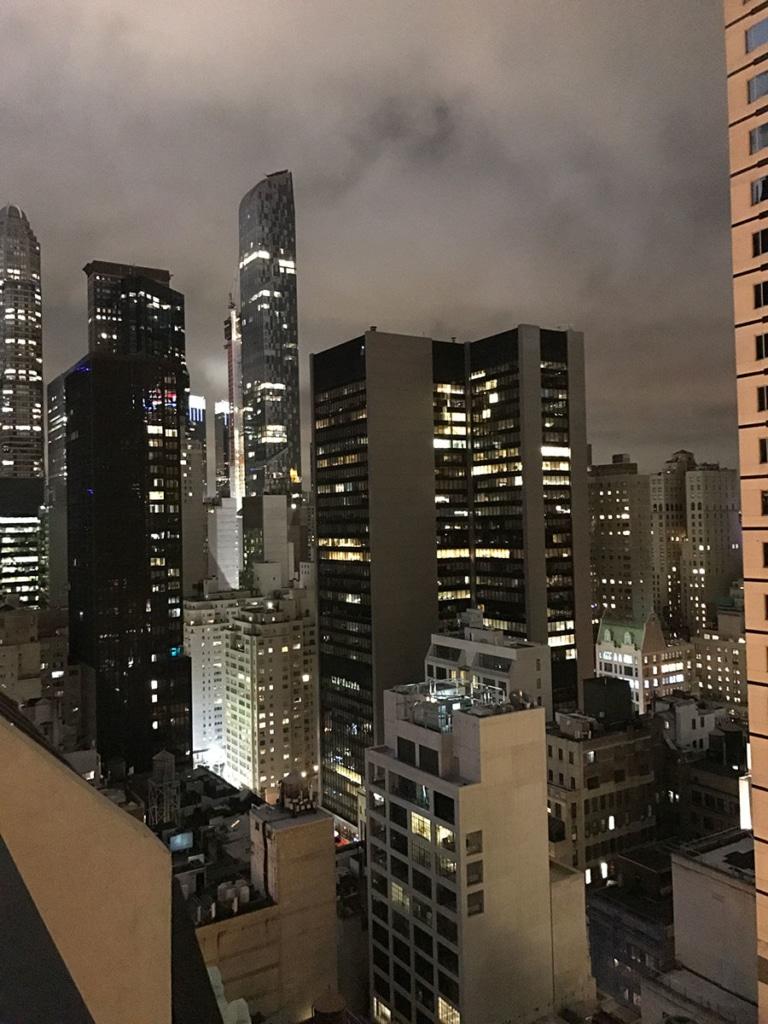 Vue de Carnegie Hall d'un rooftop à New York