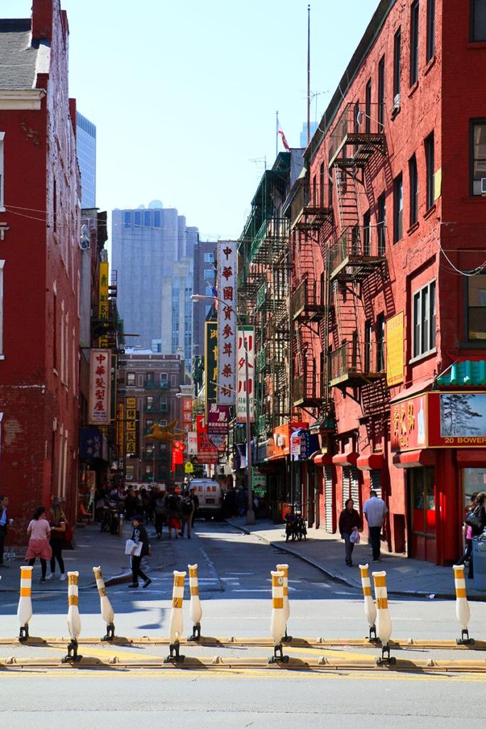 Pell Street à Chinatown à New York