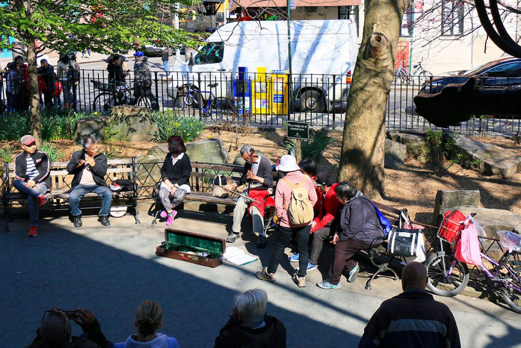 Columbus Park à Chinatown à New York