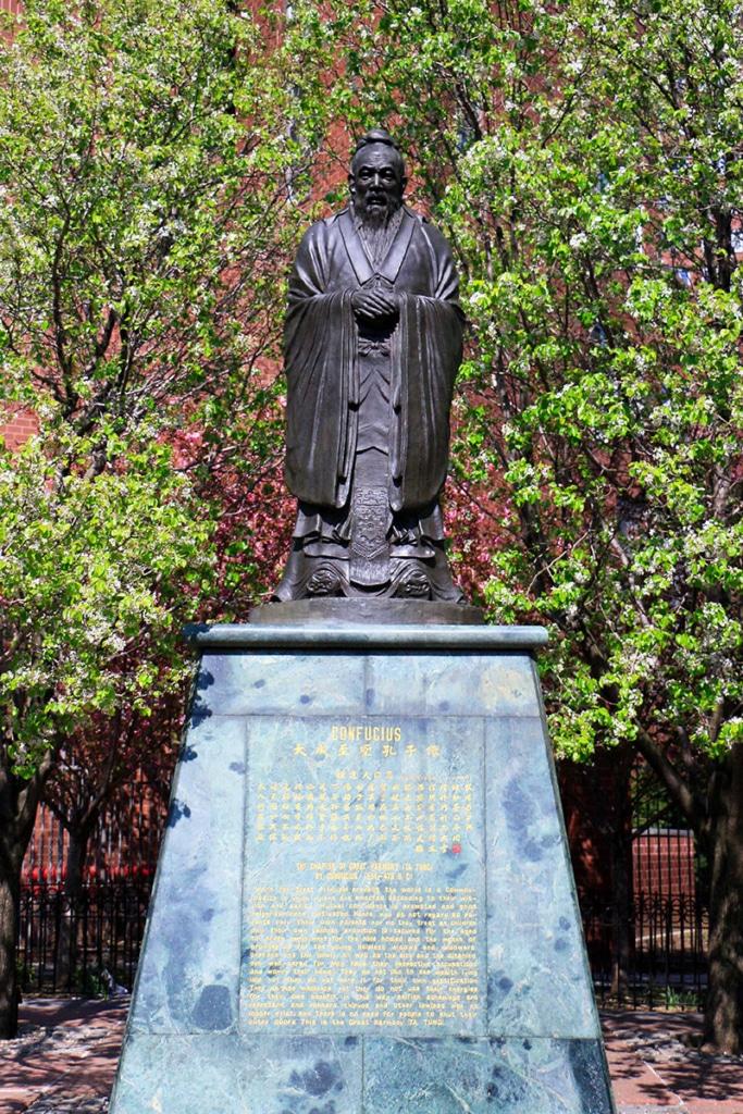 Statue de Confucius à Chinatown à New York