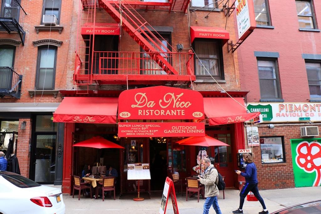 Da Nico, une des meilleures pizzeria de Little Italy à New York