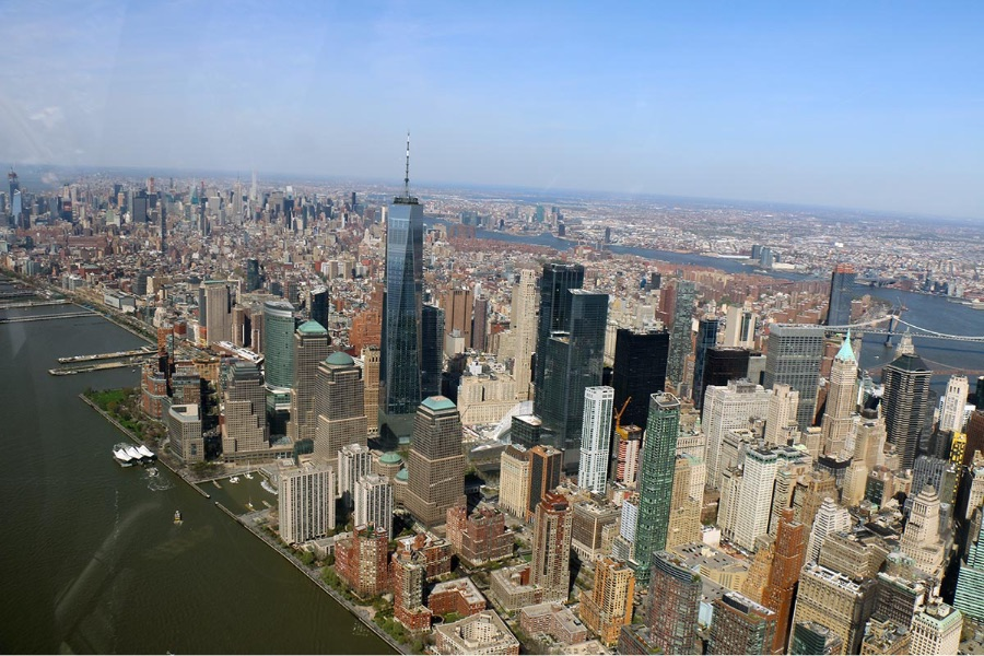 Vol hélicoptère à New York - Vue du World Trade Center