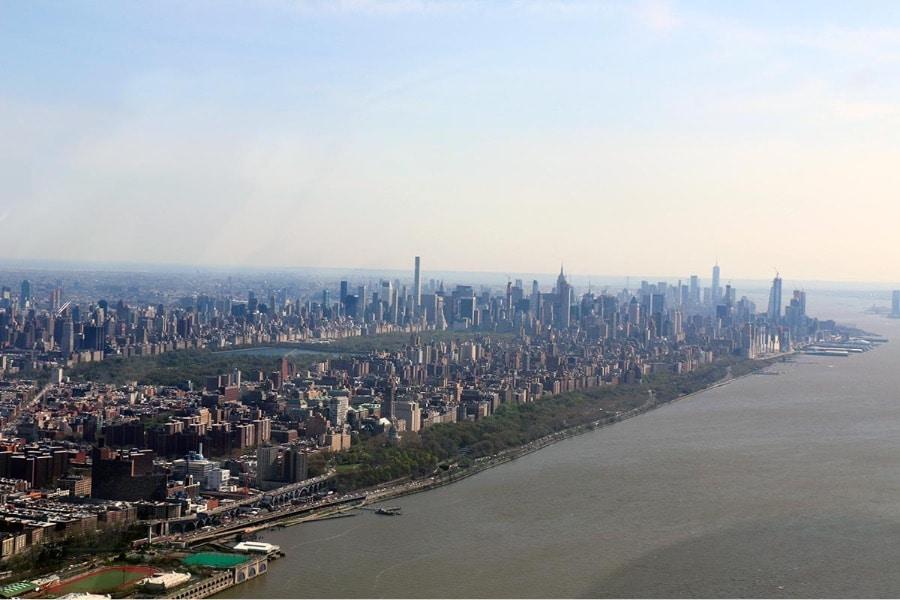 Survol de Manhattan en hélicoptère - Vue de Central Park