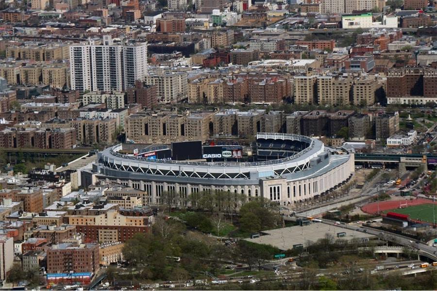 Vol hélicoptère New York - Vue du Yankee Stadium