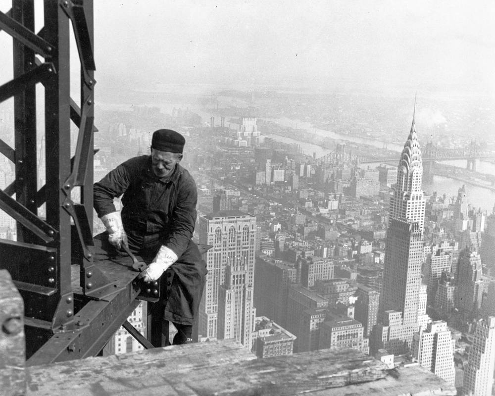 Ouvrier pendant la construction de l'Empire State Building | 1930