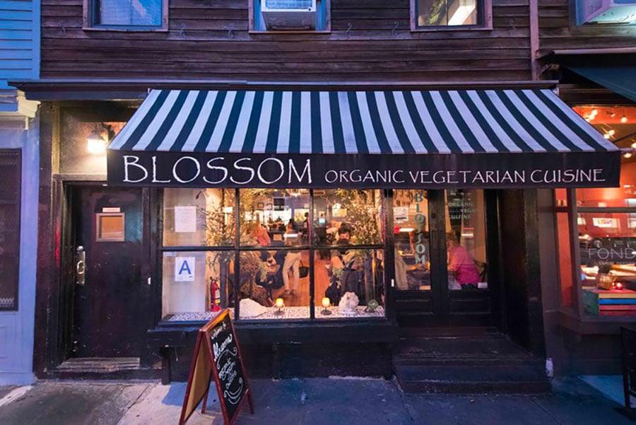 Devanture restaurant Blossom à New York