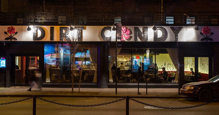 Devanture restaurant vegan Dirt Candy à New York