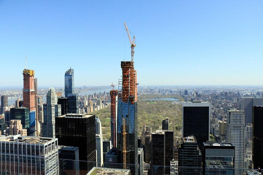 Vue de Central Park depuis le Top of the Rock à New York
