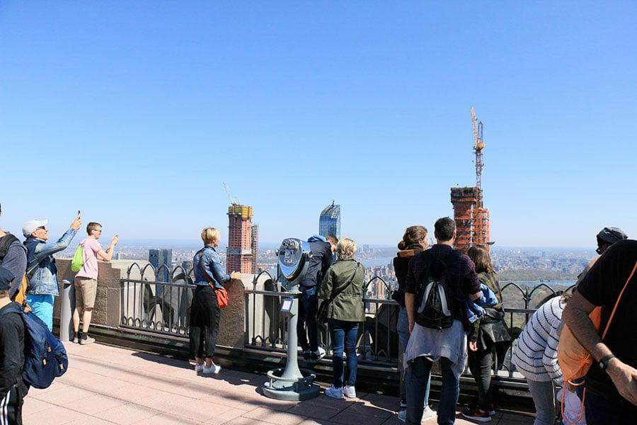 Vue depuis le top of the Rock à New York