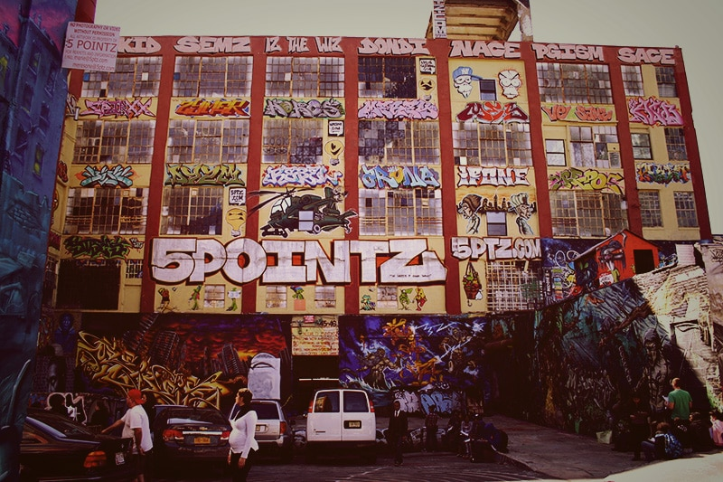 Graffitis à 5 Pointz à New York