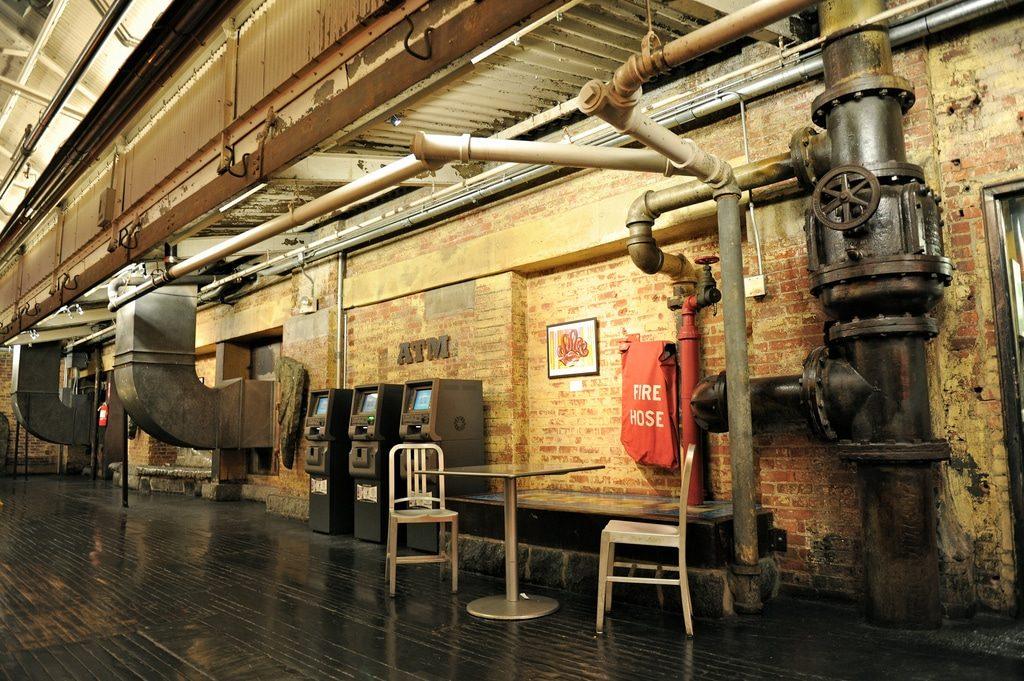 Restes de l'ancienne usine du Chelsea Market à New York
