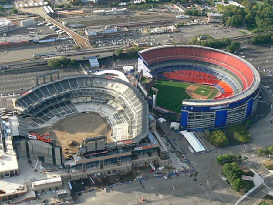 Vue d'en haut du Citi Fields stade de baseball des New York Mets