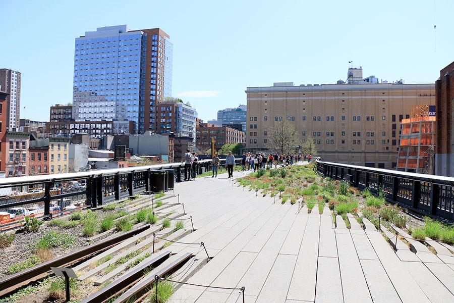 Promenade de la High Line à New York