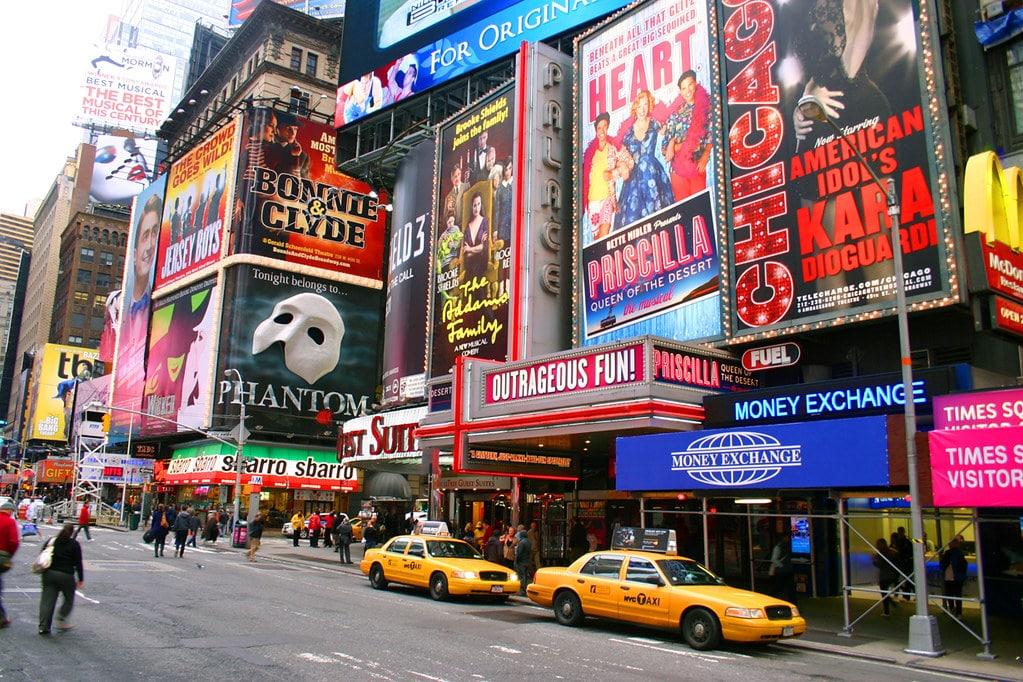 Théâtres de Broadway à Times Square à New York